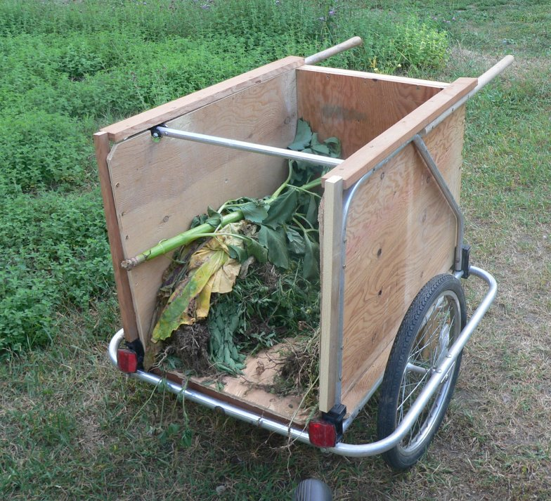 garden cart from bicycle trailer